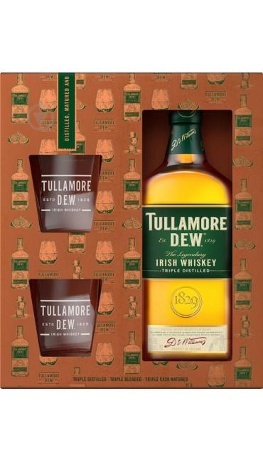 Виски Tullamore Dew Original 5 лет 0.7 л 40% + 2 стакана