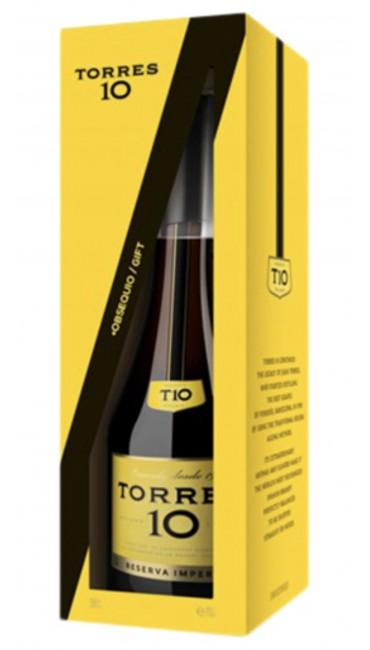 Бренди Torres 10 лет выдержки 0.7 л 38% в упаковке