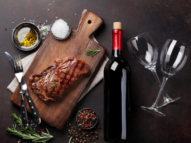 Мясо и вино - идеальное сочетание!