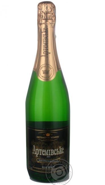 Вино игристое Artwinery Артемовское выдержанное белое Брют 13,5% 0,75л