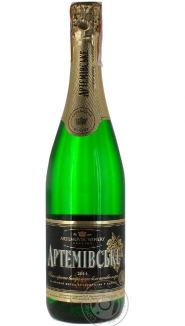 Вино игристое Артемовское выдержанное белое полусладкое 0,75л