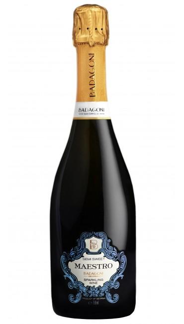 Игристое вино Badagoni Maestro белое п/сладкое 0.75л
