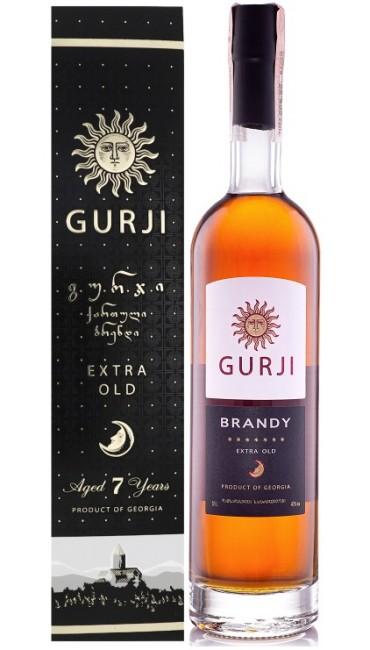 Грузинский Бренди Gurji Extra Old 7* 40% 0.5л в коробке