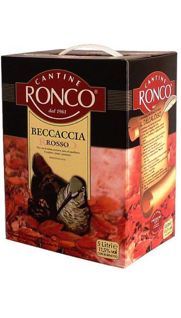 Вино Cantine Ronco Beccaccia красное 5L
