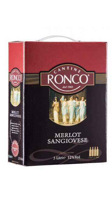 Вино Cantine Ronco Merlot and Sangiovese 3 L