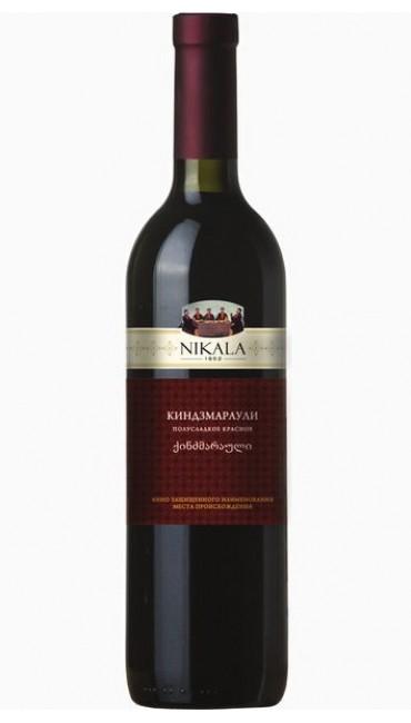 Вино nikala 1862 киндзмараули красное полусладкое 0.75л