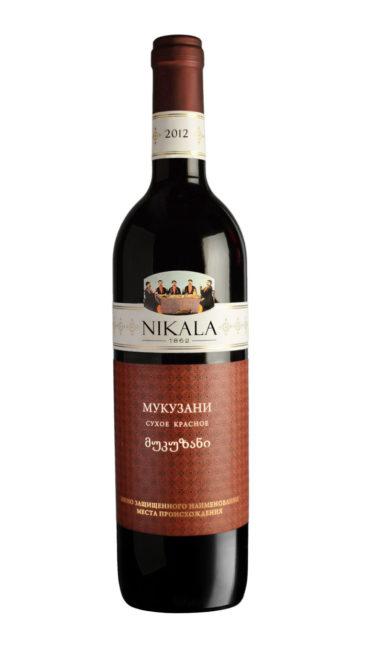 Вино Nikala 1862 Мукузани красное сухое 0.75л