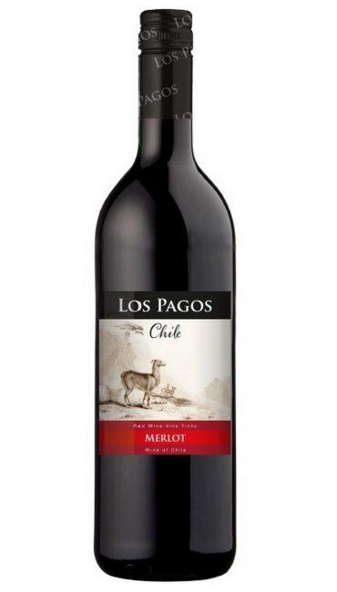 Вино Los Pagos Мерло красное сухое 0.75л