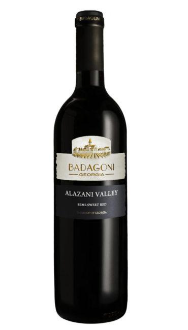 Вино Badagoni Алазанская Долина красное п/сладкое 0.75л