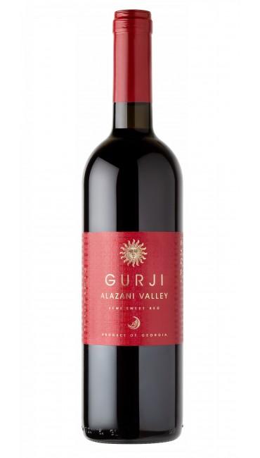 Вино Gurji Алазанская долина красное полусладкое 0,75 л