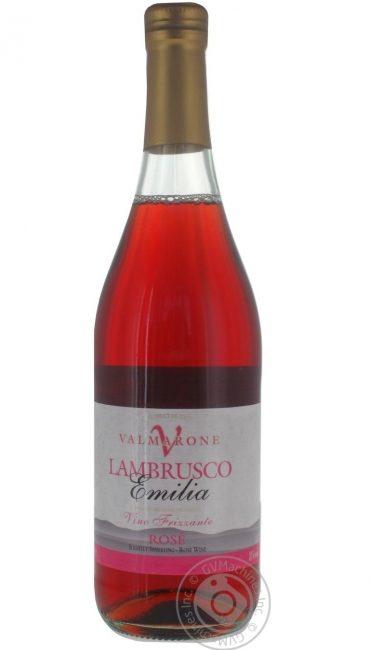 Вино полуигристое Valmarone Lambrusco Emilia полусухое розовое 8% 0,75л