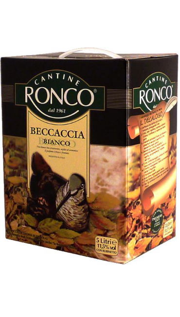 Вино Cantine Ronco Beccaccia белое 5L