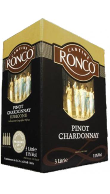 Вино Cantine Ronco Pinot Bianco, Chardonnay 3 L