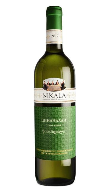 Вино Nikala 1862 Цинандали белое сухое 0.75л