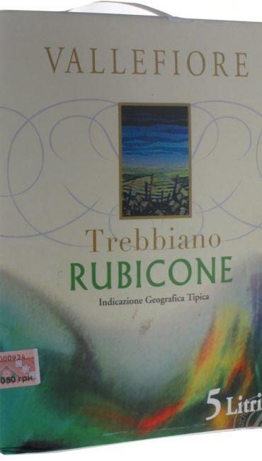 Вино Vallefiore Trebbiano Rubicone белое сухое 11% 5л