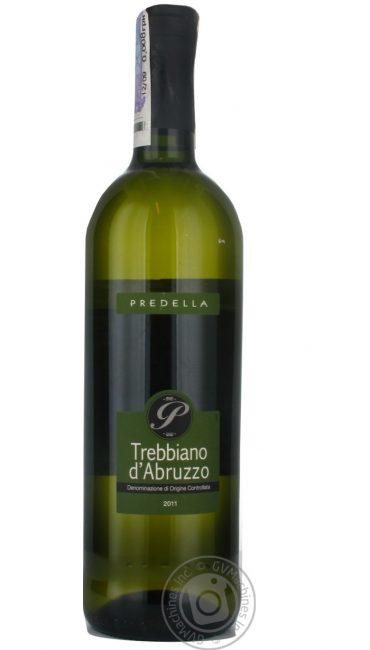 Вино Predella Trebbiano d`Arbuzzo белое сухое 0,75л