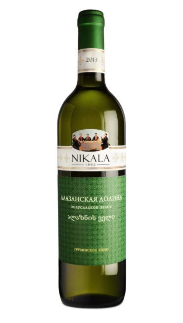 Вино Nikala 1862 Алазанская Долина белое полусладкое 0.75л