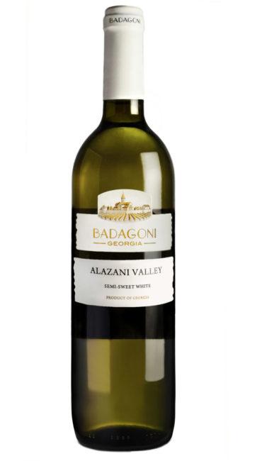 Вино Badagoni Алазанская Долина белое п/сладкое 0.75л