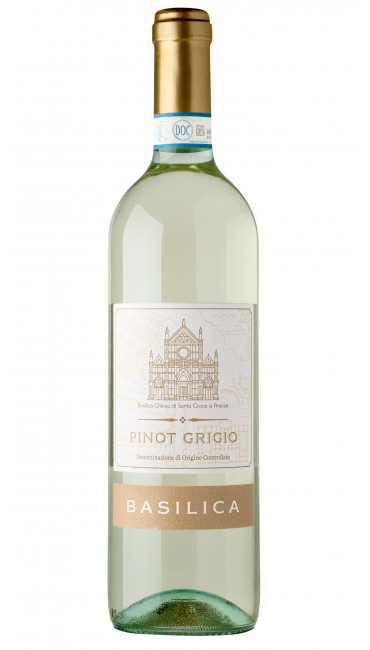 Итальянское вино Basilica Pinot Grigio DOC Delle Venezie белое сухое 0.75л