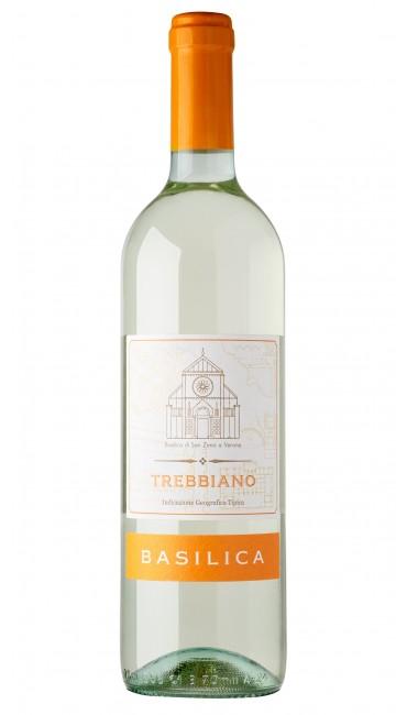 Итальянское вино Basilica Trebbiano IGP белое сухое 0.75л